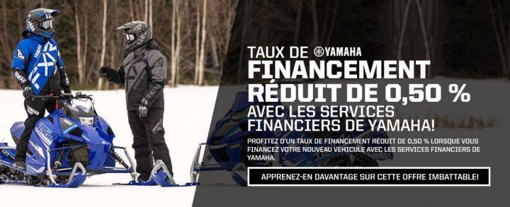 Des taux réduits avec les services financiers Yamaha